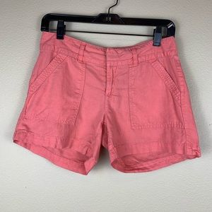 • Banana Republic • Orange Linen Cotton Shorts
